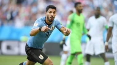 Suárez es el primer jugador uruguayo en convertir en tres mundiales consecutivos. Hoy quiere seguir de racha.