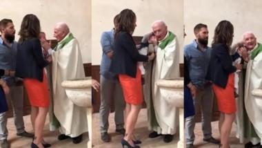Un cura de la diócesis de Meaux, en las afueras de París, que abofeteó a un bebé durante un bautizo fue suspendido el viernes. (Telefenoticias.com)
