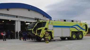 Simulacro. Una postal del procedimiento que mostró como se trabajará ante una emergencia en Esquel.