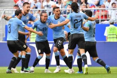 Uruguay le ganó con autoridad a Rusia y de esta manera se queda con el grupo A.
