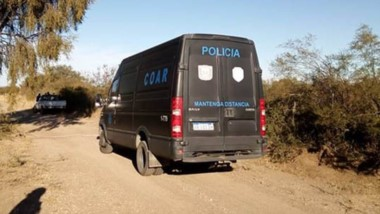 Operativo. Las autoridades custodiaban la zona. Confirmaron el hecho a Jornada y temen un femicidio. (Gentileza: Policía de San Luis)
