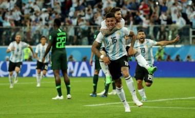 Como en Brasil 2014, Marcos Rojo volvió a marcar un gol fundamental en otro triunfo mundialista ante Nigeria.