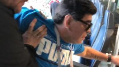 Así terminó Maradona tras la clasificación de infarto de Argentina para los octavos de final.