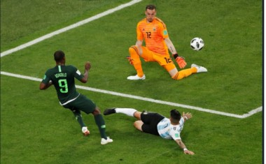 Armani tuvo una tapada fenomenal cuando el partido estaba 1-1.