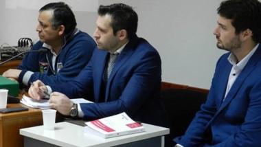 """Dante Donnini junto a su defensor que apeló por """"arbitrariedad""""."""