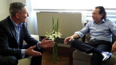 Diálogo. El mandatario chubutense se reunió con el flamante ministro y hablaron del déficit fiscal en 2020.