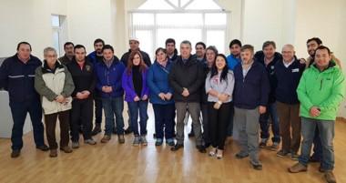 Todos los participantes de la charla sobre seguridad de presas,  visitaron la Hidroeléctrica Futaleufú.
