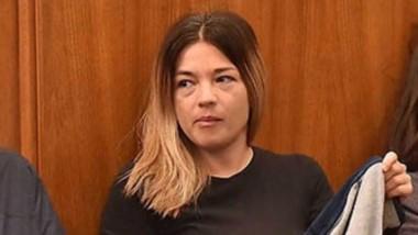 """En el banquillo de los acusados. Diego Correa, su esposa Natalia McLeod y Daniela Souza son 3 de los 7 detenidos de la resonante investigación denominada """"El Embrujo""""."""
