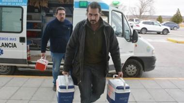 El equipo médico realizó el traslado de los órganos al Aeropuerto de Trelew para enviarlos a Buenos Aires.