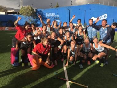 Las Leonas vapulearon a Uruguay en la final del hockey femenino en los Odesur.