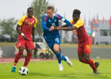 Islandia le ganaba a Ghana pero se quedó y se lo empataron.