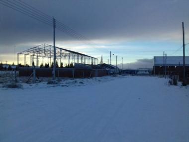 Aldea Beleiro amaneció nevada esta mañana (foto Diógenes Beleiro)
