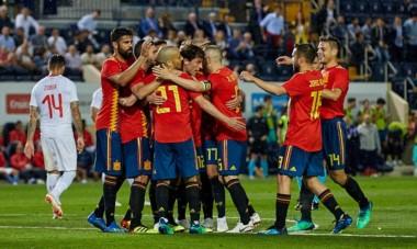 Con gol de Aspas, a 5 minutos del final, España venció a Túnez.