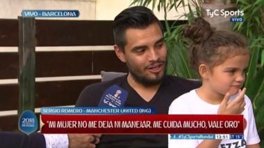 Romero confirmó que se queda en el Manchester United y que volverá a jugar en al Selección.