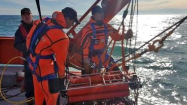 Efectivos de la Prefectura Naval Argentina encontraron al Rigel  casi a cien metros de profundidad.