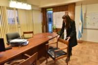 La Ministra Cigudosa volvió a su despacho tras cesar la ocupación