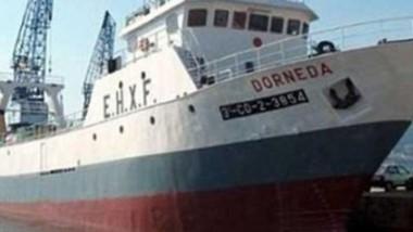 Antecedente. El buque antes de salir de su último atraque en Montevideo, desde donde opera la firma.
