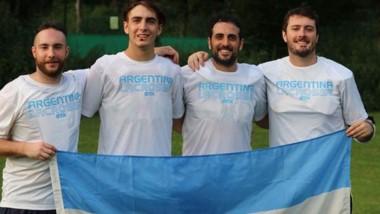 Ellos son los trelewenses Agustín Gonzales López, Lautaro Pérez Catán, Bruno Stretti y Rocky Miquelarena.