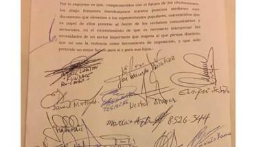El documento que fue firmado durante la cumbre en Puerto Madryn.