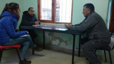 Ñancucheo mantuvo una reunión con Desarrollo Social del municipio.