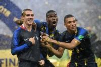 Griezmann, Pogba y Mbappé, la foto del año, la foto de Francia campeón del mundo.