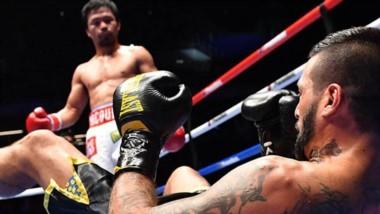 En el séptimo round, el referee frenó la pelea y el filipino le arrebató al chubutense la corona Welter de la Asociación Mundial de Boxeo.