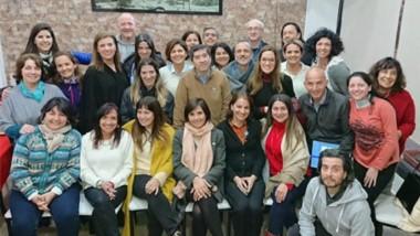 Participantes. La comitiva de Chubut estuvo presente en una instancia que busca combatir una adicción.