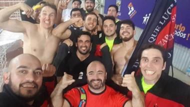 """Los muchachos de Independiente. Compitieron en Misiones y lograron la permanencia en el Nacional """"B""""."""