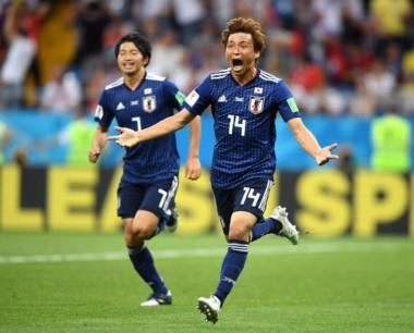 Takashi Inui la clavó desde afuera del área para el segundo de Japón, que ganaba 2-0.
