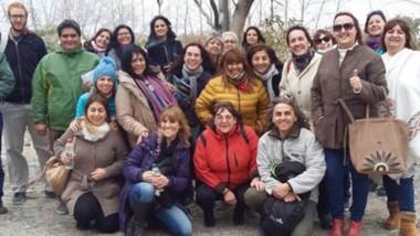 Todos los participantes de la jornada de actualización turística realizada en la ciudad de Trelew.