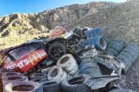 Así quedó el auto de Moggia tras el impacto (Foto @fotoscejas)