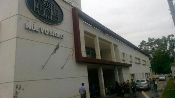 Frente del Hospital Misericordia, donde la niña se encuentra internada. (El Doce tv.com)