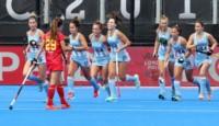 Las Leonas aplastaron a España en su debut en el Mundial de hockey.