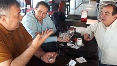El líder de Luz y Fuerza de la Patagonia, Héctor González, en el encuentro con los diputados comodorenses.