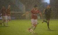 El partido fue suspendido cuando ganaban los de Alfaro 1-0 con gol de Chávez, de penal.