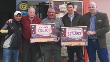 Luis María Aguirre encabezó la entrega de premios de Lotería.