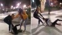 La joven agredió sin motivos alguno a la niña que solo atinó a aguantar los golpes.
