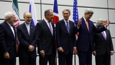 El momento del anuncio del acuerdo, con John Kerry como secretario de Estado de Obama, que impulsó la movida.