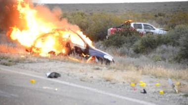 El trágico accidente ocurrió en la mañana del domingo. (Foto: Gentileza Andrés Cabalieri)