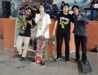 Con una gran participación, se realizó un encuentro de skate en Playa.