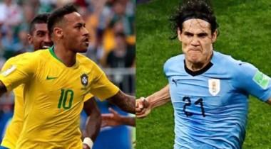 Neymar y Cavani, figuras de Brasil y Uruguay, y compañeros del PSG, representan a Sudamérica.