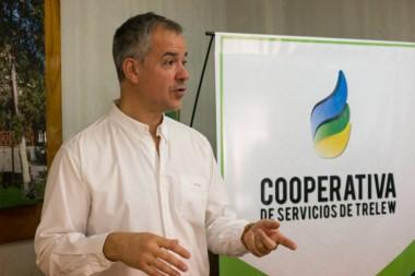 Fabián Gómez Lozano, presidente de la Cooperativa de Trelew