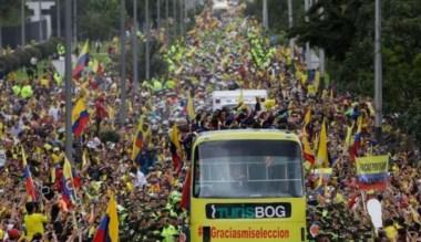 Impresionante recepción tuvieron los jugadores de Colombia, pese a no superar los octavos de final.