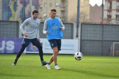 El nuevo refuerzo de Boca practicó a la par de sus compañeros en el complejo Pedro Pompilio.