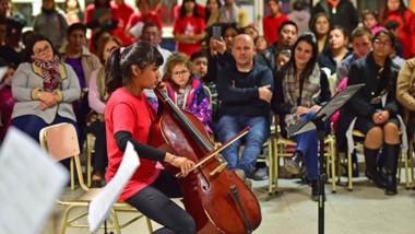 Brenda Guaymas fue seleccionada para integrar una orquesta Infantil Nacional.