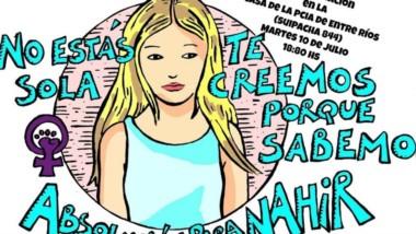 """Este es el afiche que el grupo feminista """"Todo presx es políticx"""" difundió para la marcha de este martes."""