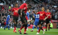 Pogba, de penal, marcó el primer tanto del United.