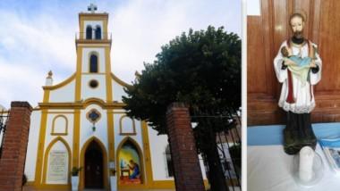 """""""La habíamos puesto en la entrada y en algún momento de la misa se la llevaron"""", dijo un compungido padre Quique."""