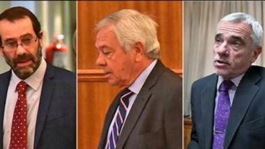 Trío. Panizzi, Donnet y Vivas, jueces del Superior Tribunal de Justicia.