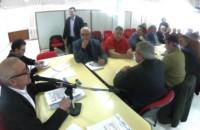 Del encuentro en Rawson participaron intendentes y miembros del Sindicato de Luz y Fuerza.